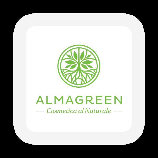 Logo Almagreen - Cosmetica al naturale - Maingage, Web agency Bari