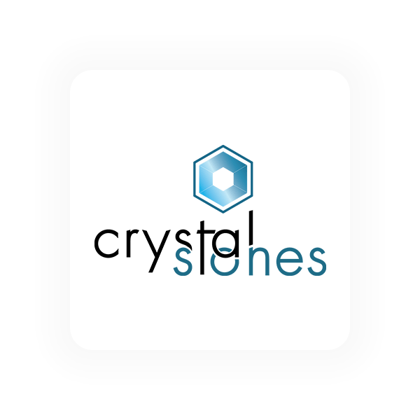 Logo e sito ecommerce accessori: Crystal Stones - Maingage, Web agency Bari